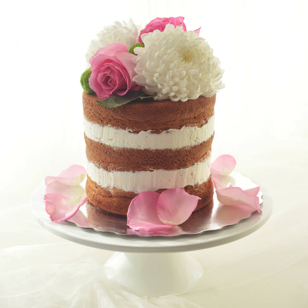 layered gluten free wedding cake