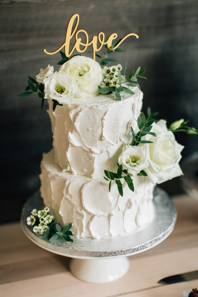 layered gluten free wedding cake